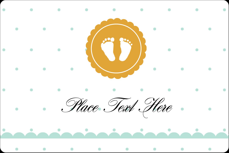 "2"" x 3"" Rectangular Label - Baby Footprints"
