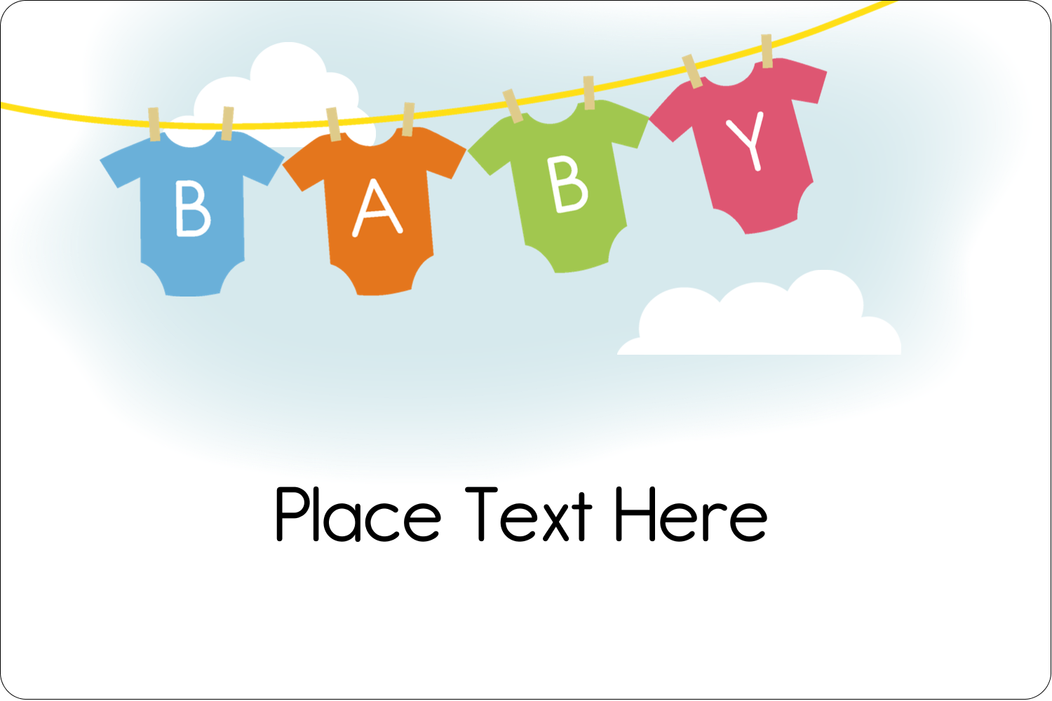 "2"" x 3"" Rectangular Label - Baby Onesies"