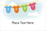 Make your project super adorable with printable pre-designed Baby Onesies templates.