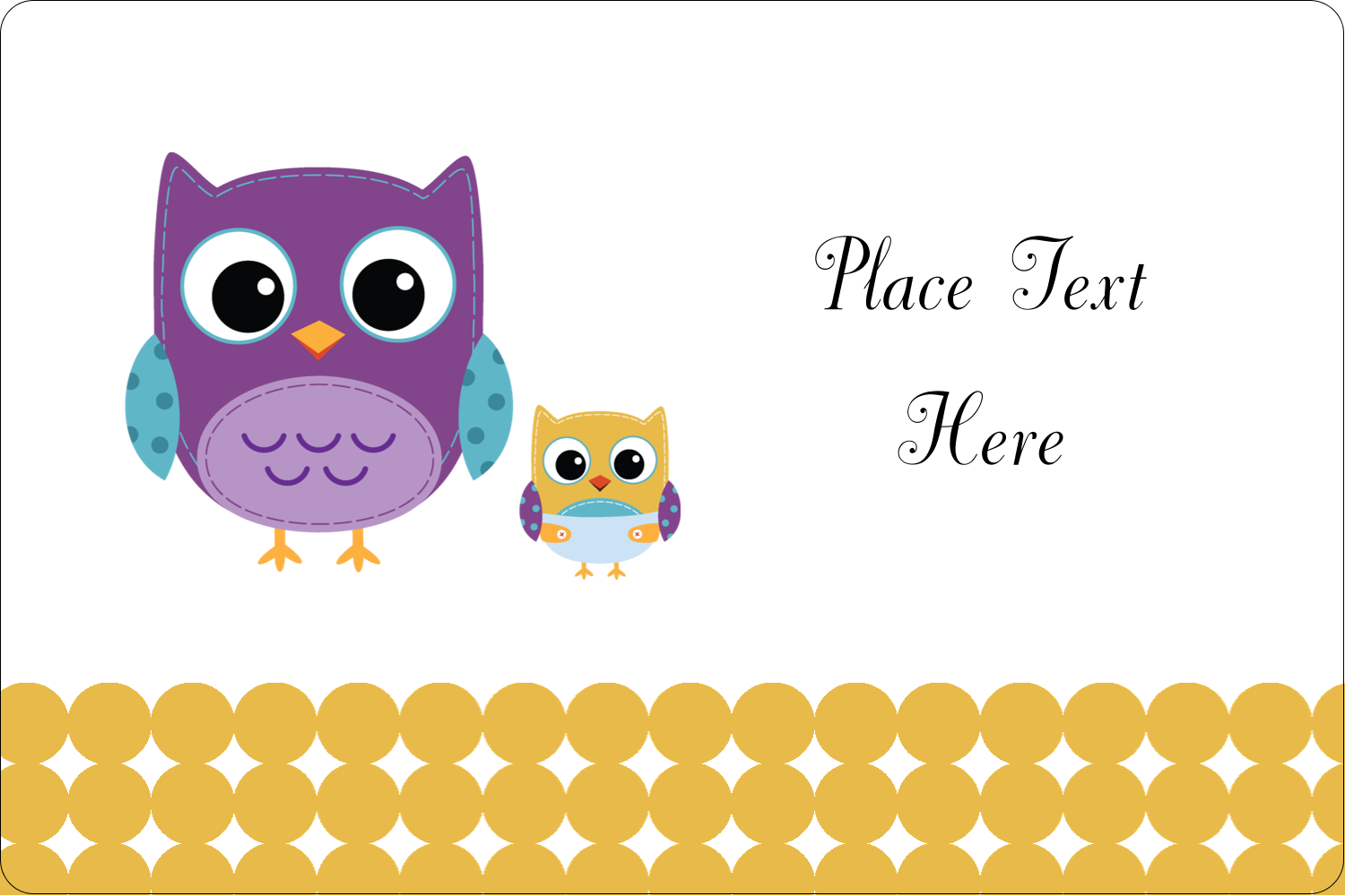 "2"" x 3"" Rectangular Label - Baby Owl"