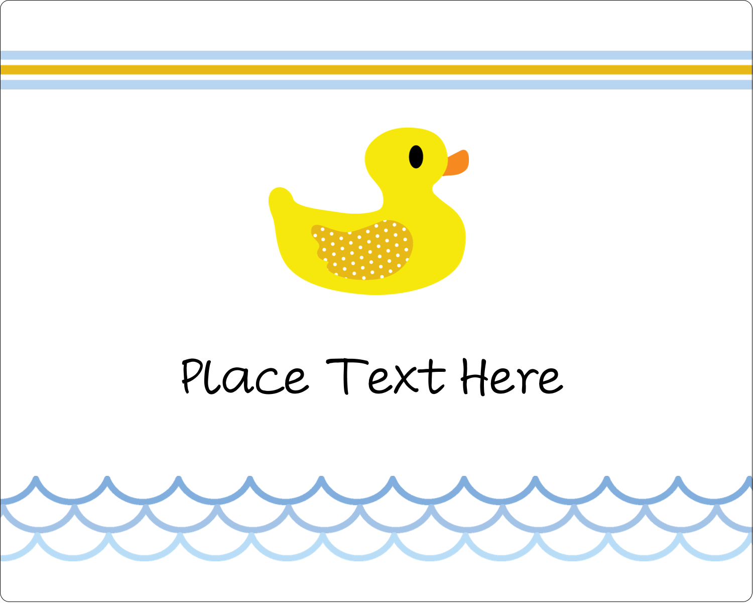 "3"" x 3¾"" Rectangular Label - Baby Duckie"
