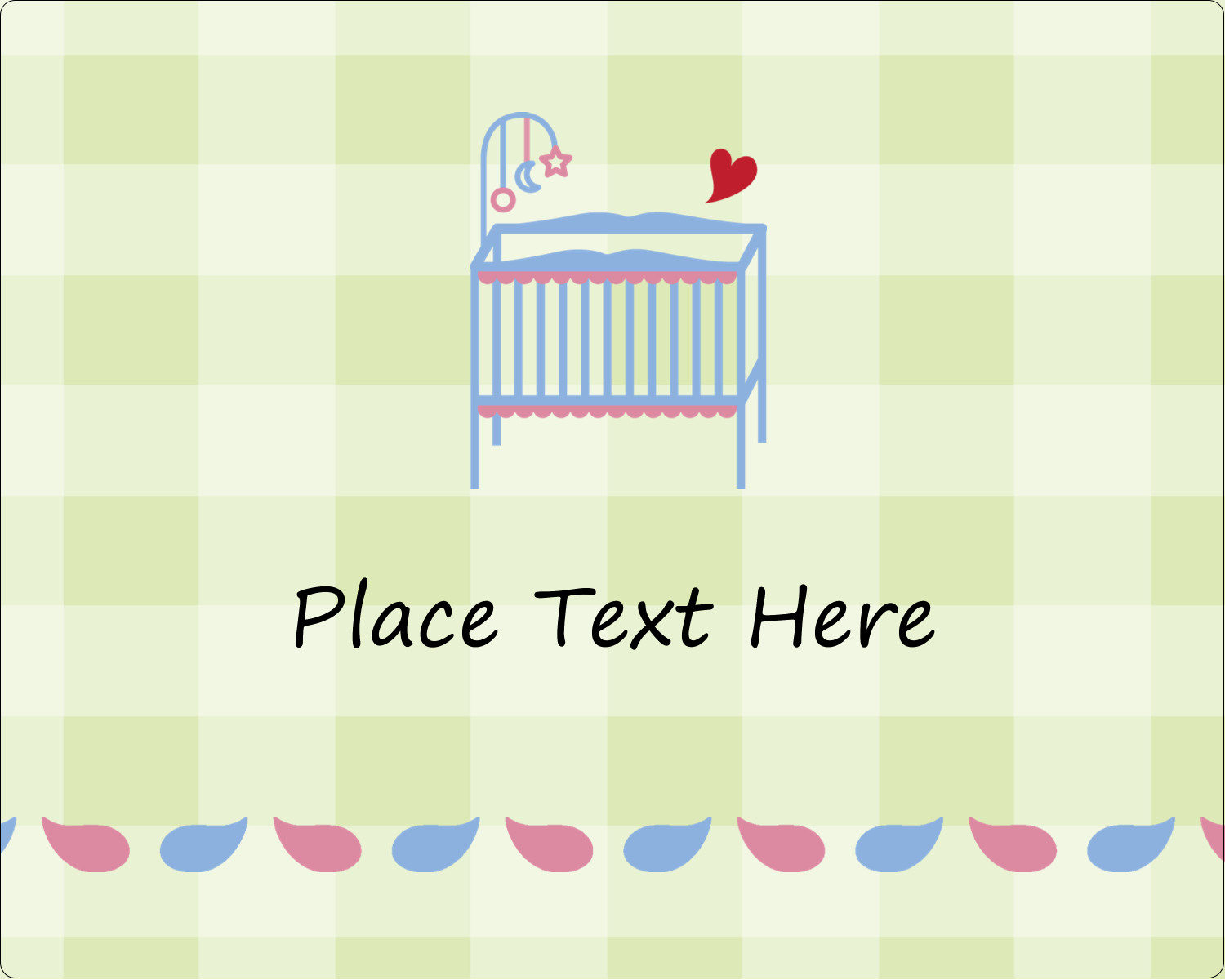 "3"" x 3¾"" Rectangular Label - Baby Crib"