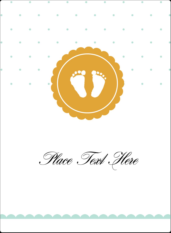 "4¾"" x 3½"" Rectangular Label - Baby Footprints"