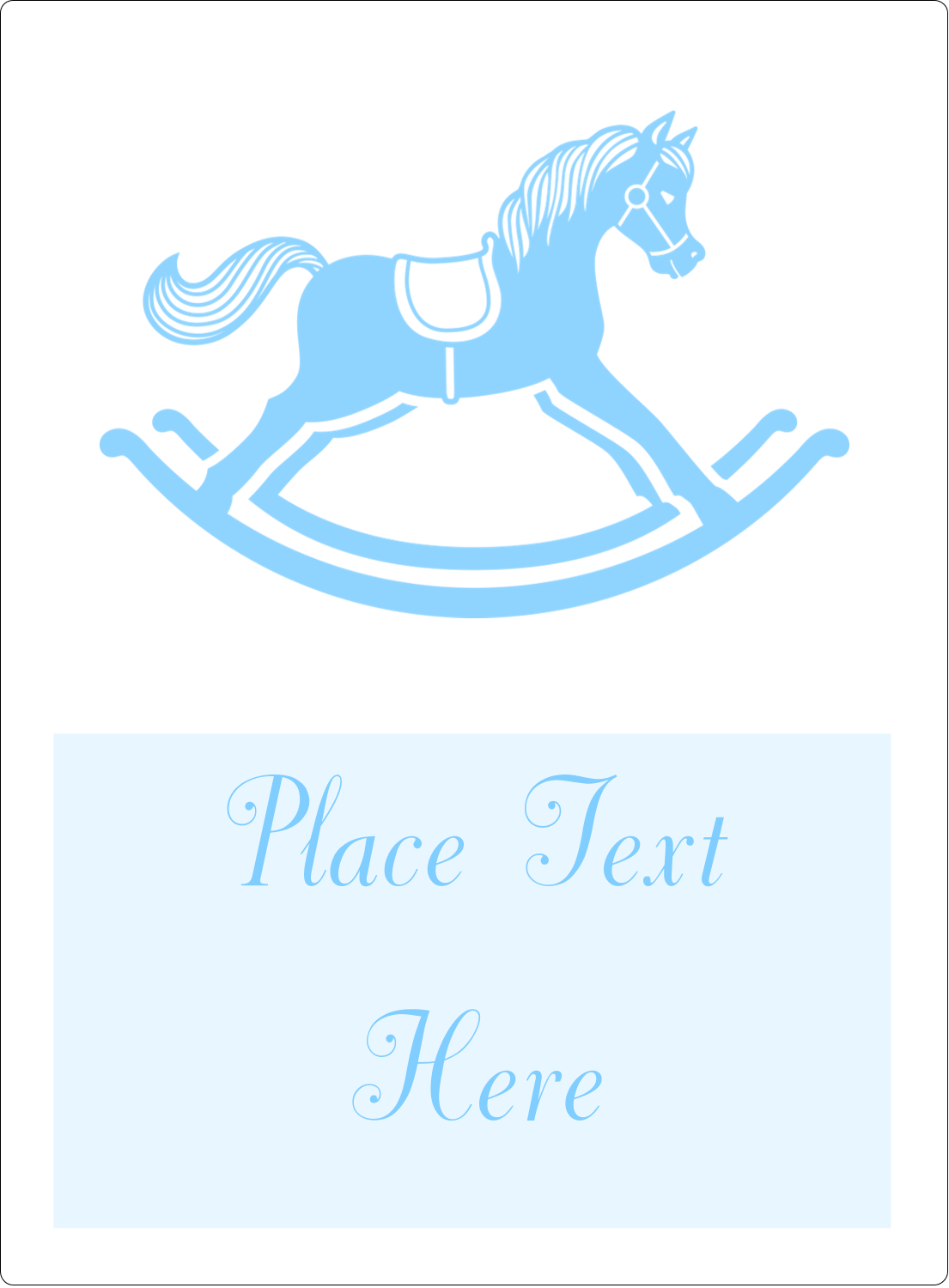 "4¾"" x 3½"" Rectangular Label - Baby Rocking Horse"