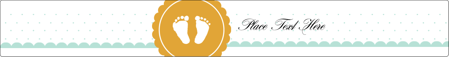"9¾"" x 1¼"" Wraparound Label - Baby Footprints"