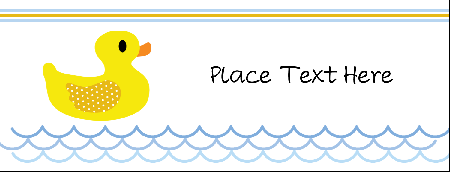 """1-7/16"""" x 3¾"""" Tent Card - Baby Duckie"""