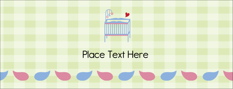 "1-7/16"" x 3¾"" Tent Card - Baby Crib"