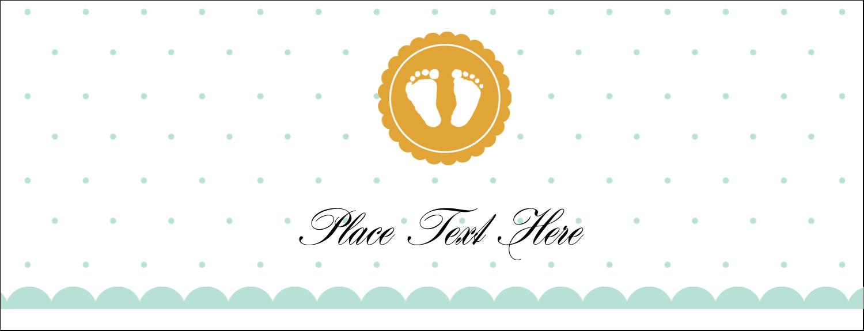 "1-7/16"" x 3¾"" Tent Card - Baby Footprints"