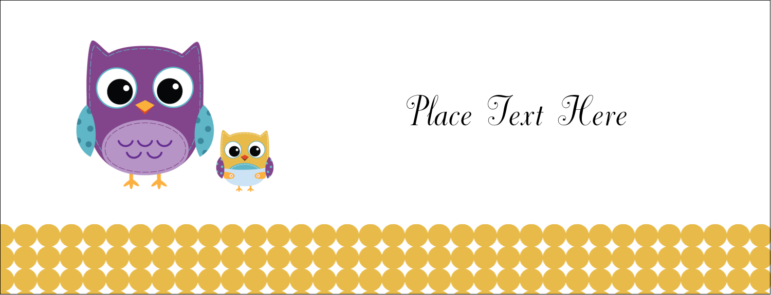 """1-7/16"""" x 3¾"""" Tent Card - Baby Owl"""