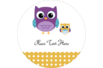 Have a hoot customizing your project with printable pre-designed Baby Owl templates.
