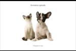 Adorables animaux de compagnie Cartes de souhaits pliées en deux - gabarit prédéfini. <br/>Utilisez notre logiciel Avery Design & Print Online pour personnaliser facilement la conception.