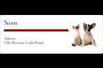 Adorables animaux de compagnie Étiquettes D'Identification - gabarit prédéfini. <br/>Utilisez notre logiciel Avery Design & Print Online pour personnaliser facilement la conception.