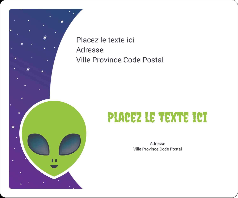 """½"""" x 1¾"""" Étiquettes D'Adresse - Fête d'extraterrestres"""