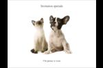 Adorables animaux de compagnie Cartes de notes - gabarit prédéfini. <br/>Utilisez notre logiciel Avery Design & Print Online pour personnaliser facilement la conception.