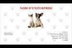 Adorables animaux de compagnie Cartes d'affaires - gabarit prédéfini. <br/>Utilisez notre logiciel Avery Design & Print Online pour personnaliser facilement la conception.