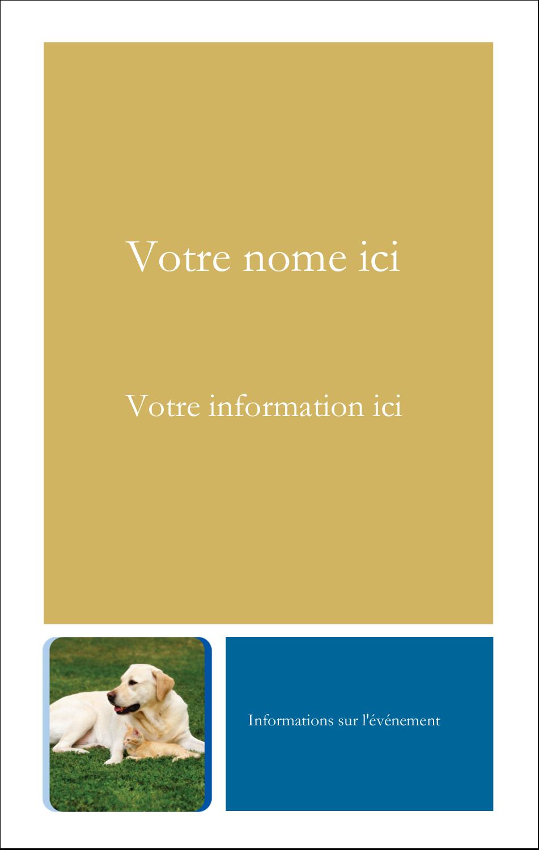 2¼ x 3½ Étiquettes badges autocollants - Soins aux animaux de compagnie