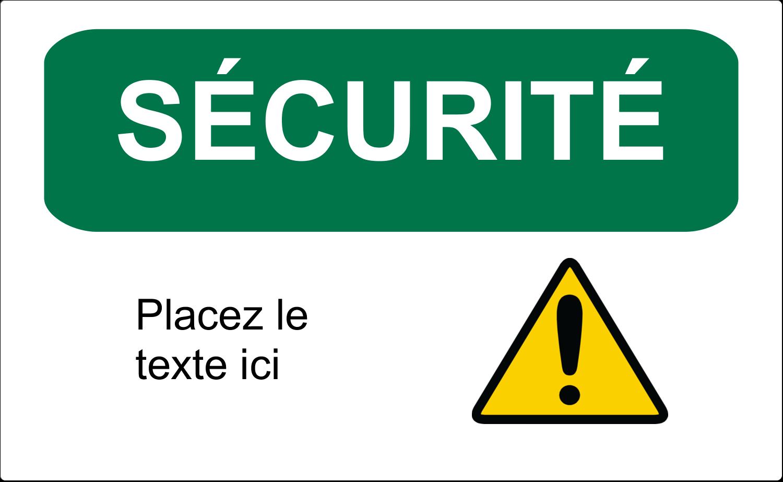 """8½"""" x 11"""" Étiquettes D'Identification - Sécurité et prévention"""