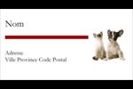 Adorables animaux de compagnie Étiquettes Pour Copieurs - gabarit prédéfini. <br/>Utilisez notre logiciel Avery Design & Print Online pour personnaliser facilement la conception.
