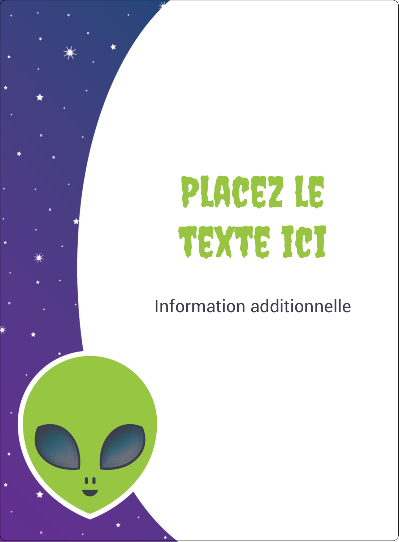 """2½"""" Diameter Étiquettes rondes - Fête d'extraterrestres"""