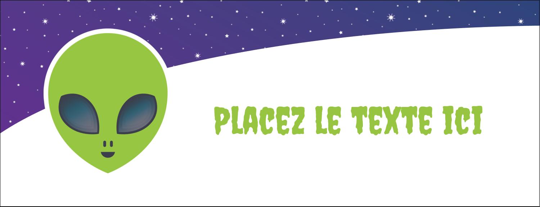 """1-7/16"""" x 3¾"""" Affichette - Fête d'extraterrestres"""