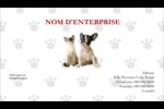 Adorables animaux de compagnie Carte d'affaire - gabarit prédéfini. <br/>Utilisez notre logiciel Avery Design & Print Online pour personnaliser facilement la conception.