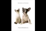 Adorables animaux de compagnie Carte Postale - gabarit prédéfini. <br/>Utilisez notre logiciel Avery Design & Print Online pour personnaliser facilement la conception.