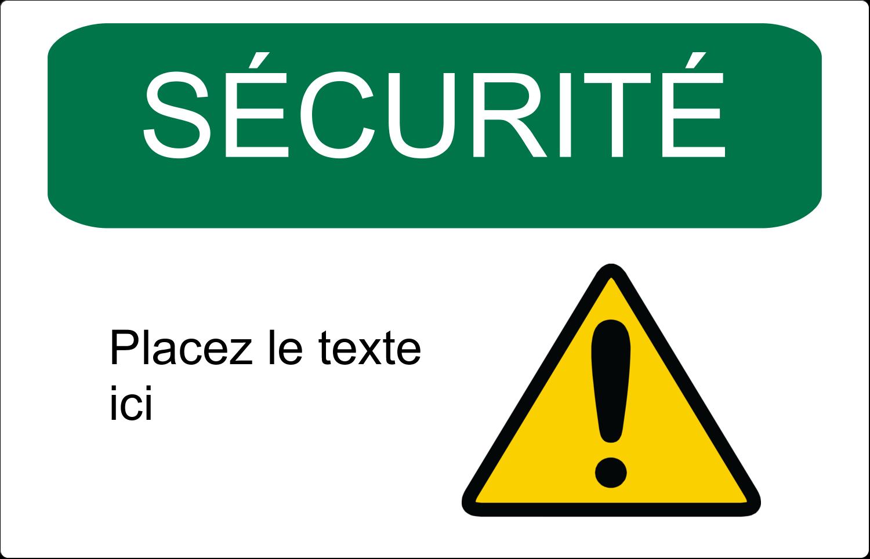 """3½"""" x 4½"""" Étiquette Industrielles - Sécurité et prévention"""