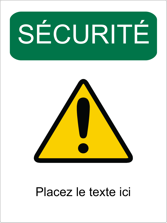 """3-5/16"""" x 2-5/16"""" Étiquette Industrielles - Sécurité et prévention"""