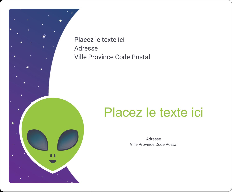 """3⅓"""" x 4"""" Étiquettes d'expédition - Fête d'extraterrestres"""