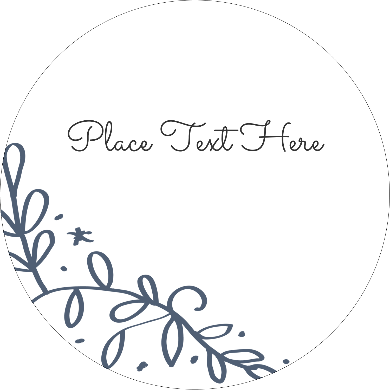 """2½"""" Round Label - Save the Date Blue"""