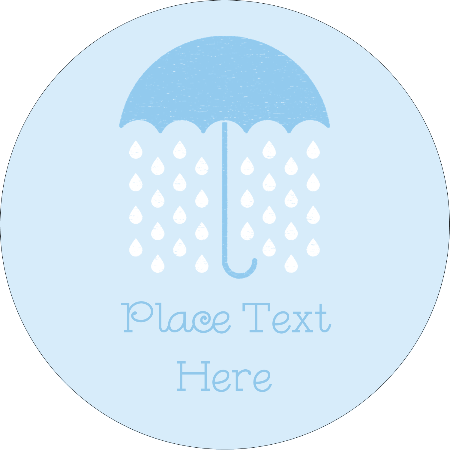 "2½"" Round Label - Baby Umbrella"
