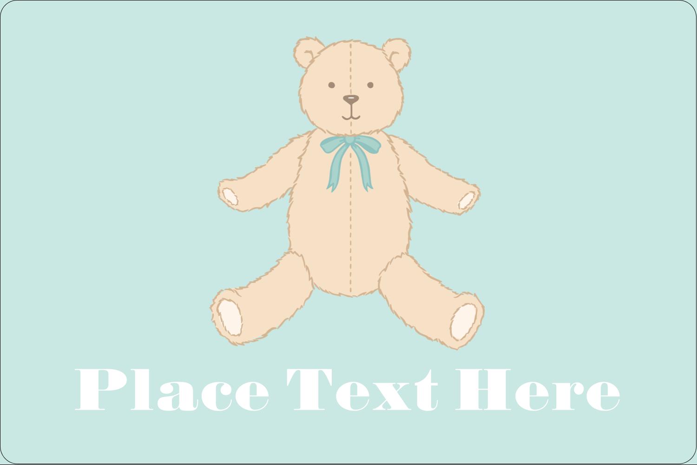 "2"" x 3"" Rectangular Label - Baby Teddy Bear"