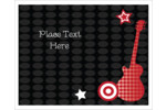 Customize projects with printable pre-designed Birthday Rock Guitar templates.