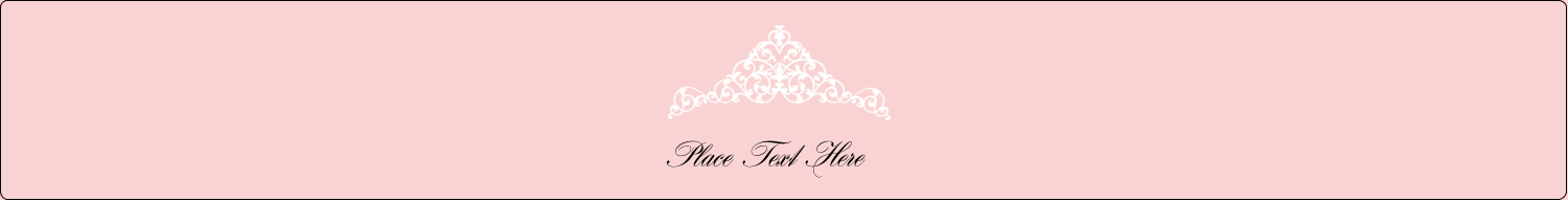"9¾"" x 1¼"" Wraparound Label - Pink Tiara"