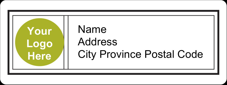 "⅔"" x 1¾"" Address Label - Modern"