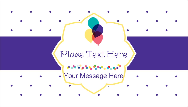 "2"" x 3½"" Business Card - Birthday Supplies"