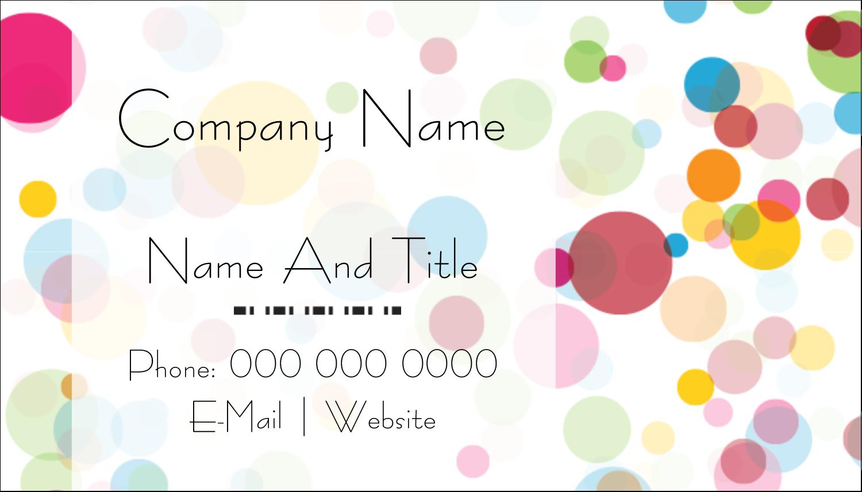 "2"" x 3½"" Business Card - Birthday Confetti"