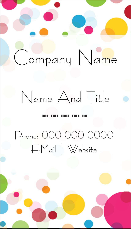 "3½"" x 2"" Business Card - Birthday Confetti"