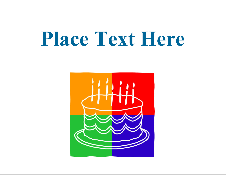 "4¼"" x 5½"" Postcard - Birthday Cake"