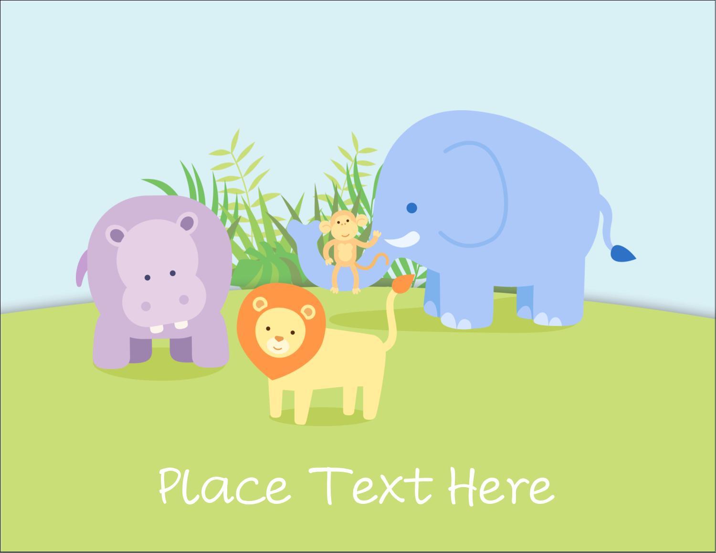 "5½"" x 4¼"" Postcard - Baby Safari"