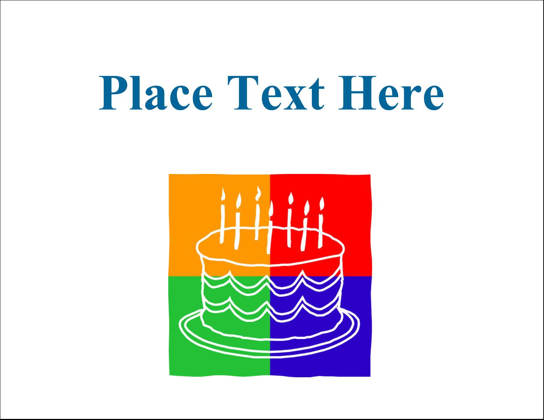 "5½"" x 4¼"" Postcard - Birthday Cake"