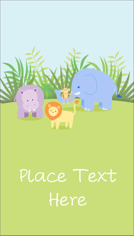 """3½"""" x 2"""" Business Card - Baby Safari"""
