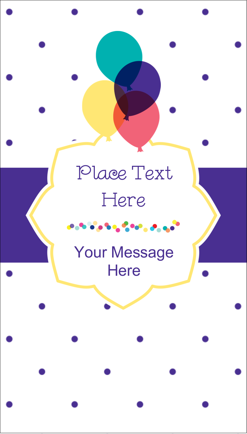 "3½"" x 2"" Business Card - Birthday Supplies"