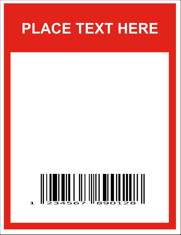 "8½"" x 11"" Industrial Label - Bin Barcode"
