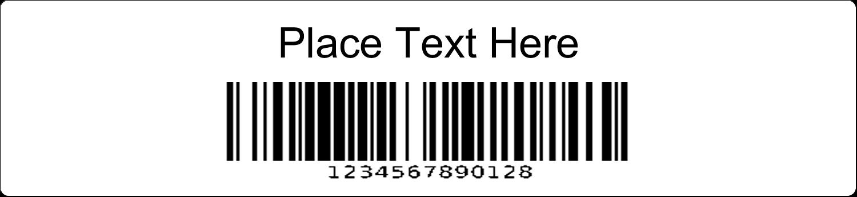 "1-1/32"" x 3½"" Industrial Label - Bin Barcode"