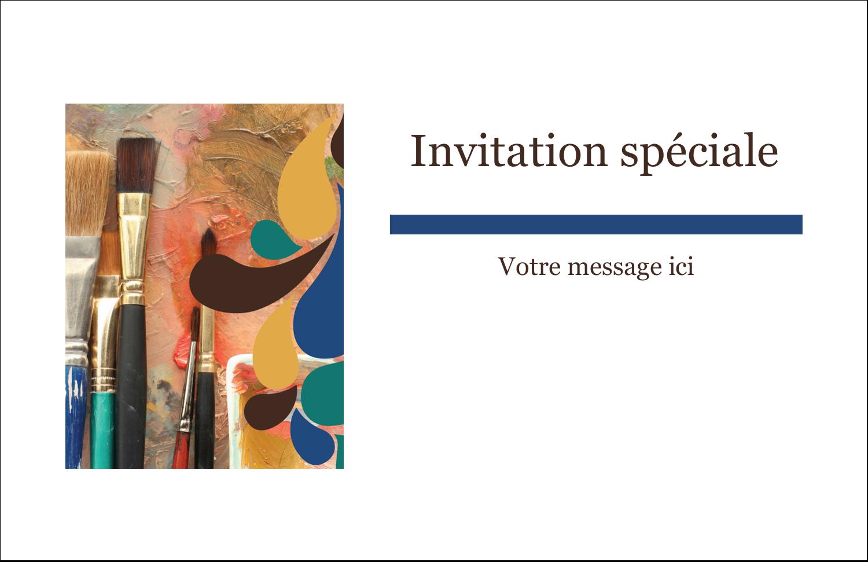 """8½"""" x 11"""" Cartes Et Articles D'Artisanat Imprimables - Pinceaux modernes en tons naturels"""