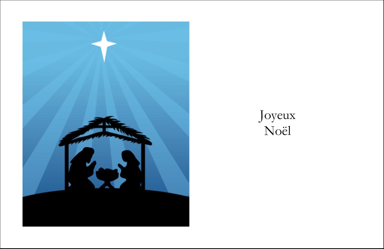 """8½"""" x 11"""" Cartes Et Articles D'Artisanat Imprimables - Berceau de Noël"""