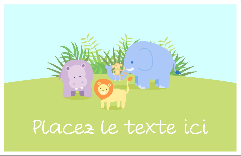 """8½"""" x 11"""" Cartes Et Articles D'Artisanat Imprimables - Bébé safari"""