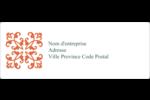 Concept Arc Orange Étiquettes d'adresse - gabarit prédéfini. <br/>Utilisez notre logiciel Avery Design & Print Online pour personnaliser facilement la conception.
