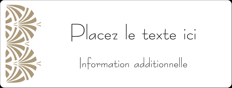 """1"""" x 2⅝"""" Étiquettes d'adresse - Art déco"""